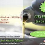Oferta de cambio de aceite y filtro de aceite