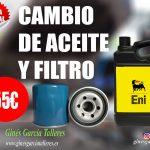 Cuánto cuesta realizar un cambio de aceite y filtro